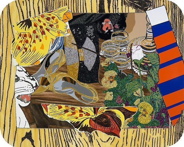 MICKALENE THOMAS Still life with black and white panther, 2009