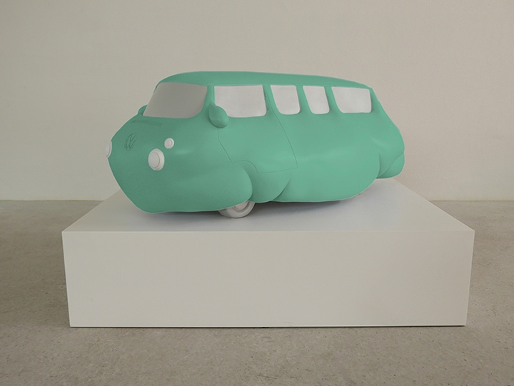 ERWIN WURM Fat Bus (green), 2016