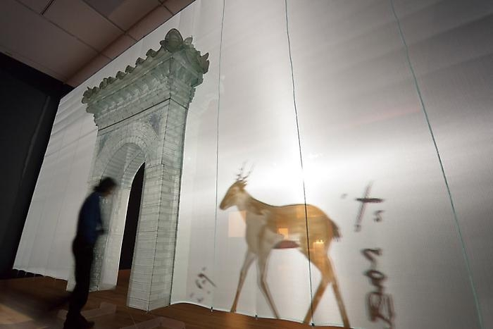Do Ho Suh, Gate Installation view, Luminous: The Art of Asia Seattle Art Museum, 2011 photo by Nathaniel Willson