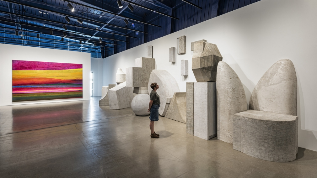 Installation view of Liu Wei Invisible Cities at moCa Cleveland, perspective 12