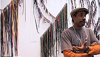 """LM ARTIST VIDEO SERIES: NARI WARD, 2012, This informative installment of LM Artist Video Series offers an inside look at Nari Ward's exhibition 'Liberty and Orders'. With footage of both the installation and of opening night, this video highlights the evolution of the exhibit and features commentary from Wangechi Mutu and Robin Cembalast as well as a discussion on the influence of the """"role of the citizen"""" lead by the artist himself. 'Liberty and Orders' was on view March 29, 2012 through April 21, 2012 at Lehmann Maupin's Lower East Side location."""