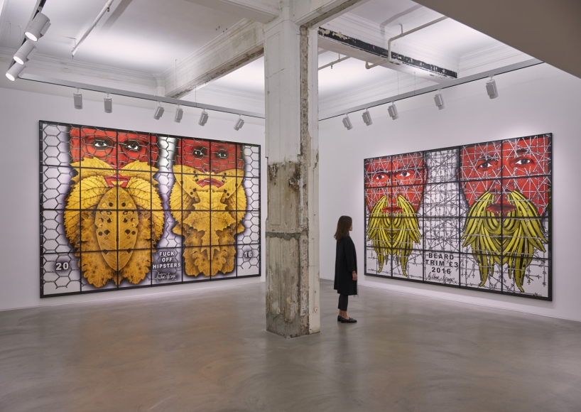 Gilbert & George, THE BEARD PICTURES, Installation view, Lehmann Maupin Hong Kong