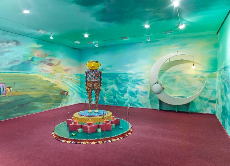 OSGEMEOS, Silence of the Music installation view 4