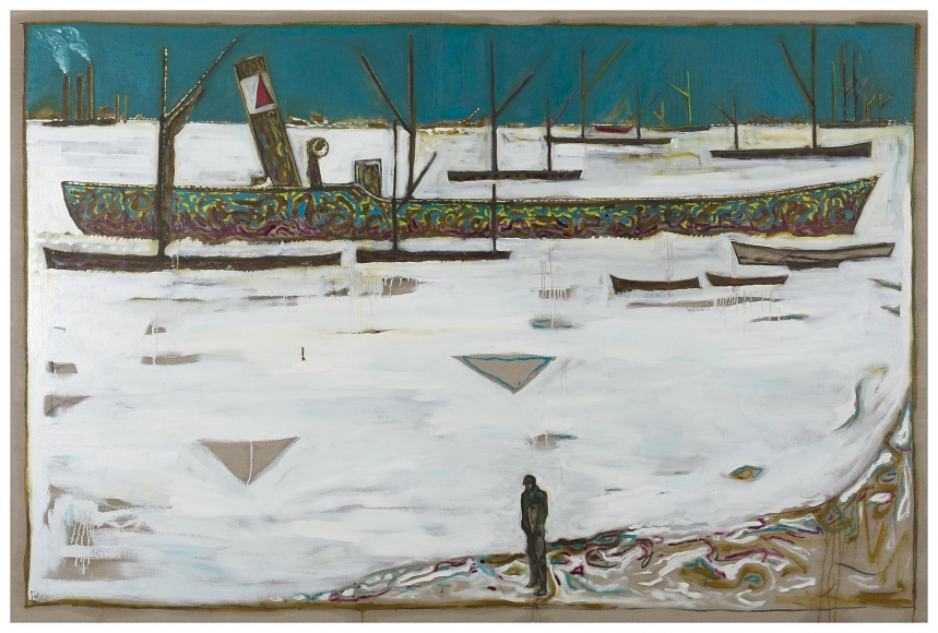 BILLY CHILDISH Frozen Estuary - Off Chatham, 1895 (Version Y), 2012