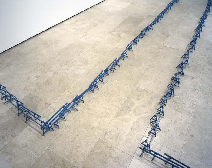 Crowd, 2005 basswood, latex paint