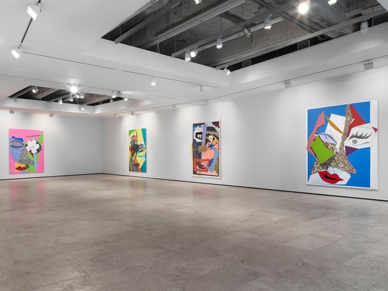 Mickalene Thomas: Tête de Femme Installation view 1