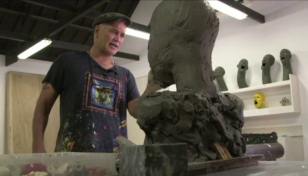Ashley Bickerton discusses his latest work and process with InFrame.TV at his Bali studio.