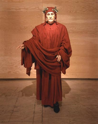 Dante, 2000 wax, linen, found shoes