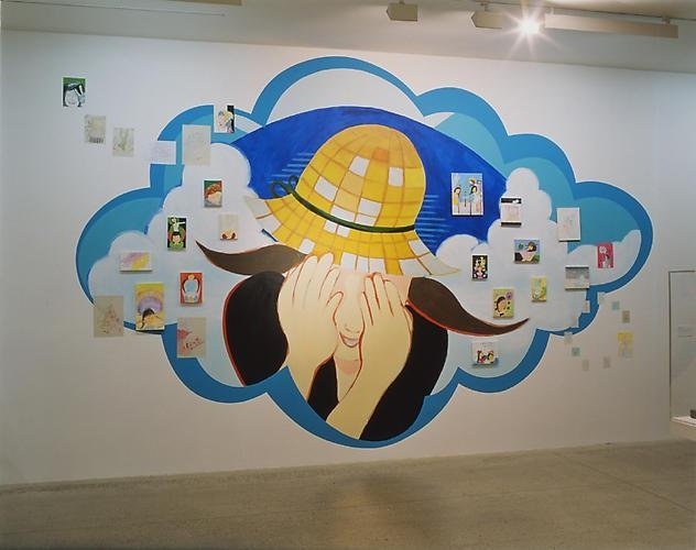 REI SATO Installation images from Coloriage, 2002