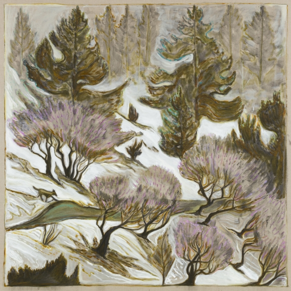 BILLY CHILDISH, wolf, trees and road, 2019