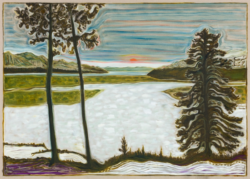 BILLY CHILDISH, midnight sun / frozen lake, 2017