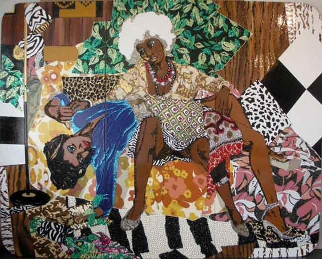 MICKALENE THOMAS La Lecon d'amour, 2008