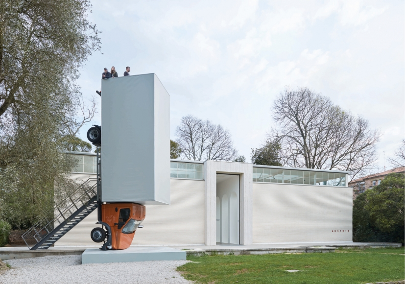 ERWIN WURM, Stand quiet and look out over the Mediterranean Sea, 2016 – 2017