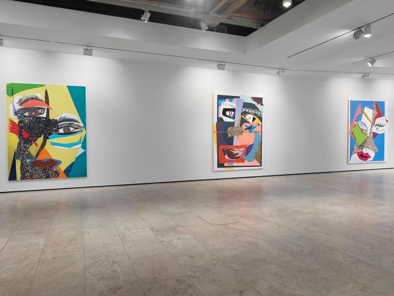 Mickalene Thomas: Tête de Femme Installation view 3