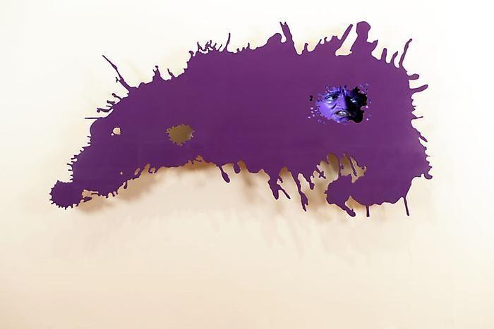 TONY OURSLER Splat (Purple), 2010