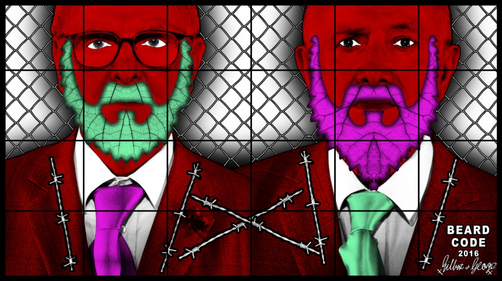 GILBERT & GEORGE, BEARD CODE, 2016