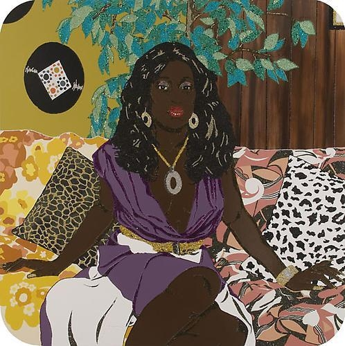 MICKALENE THOMAS Portrait of Qusuquzah, 2008