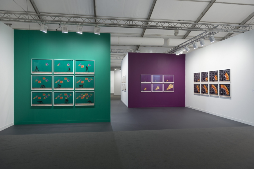 Installation view of Lehmann Maupin's booth at Frieze art fair in London 2019, view 2