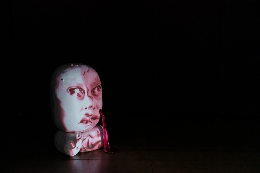 Installation view of special exhibition by Tony Oursler at Taipei Dangdai art fair 2020, view 5