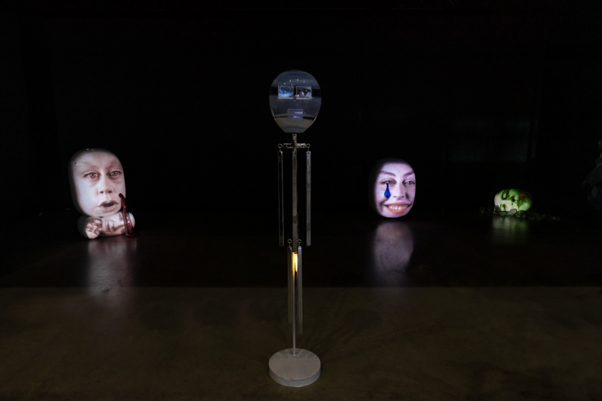 Installation view of special exhibition by Tony Oursler at Taipei Dangdai art fair 2020, view 1