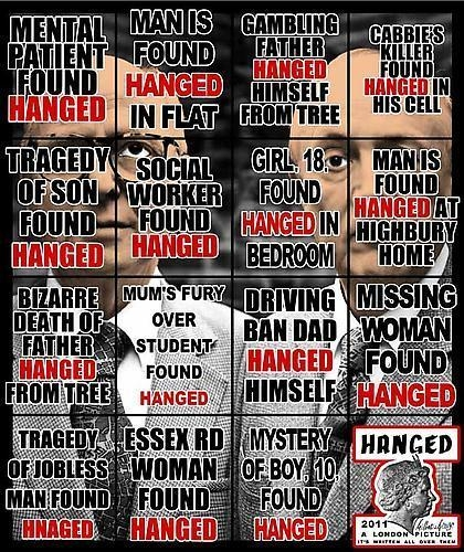 GILBERT & GEORGE, Hanged, 2011