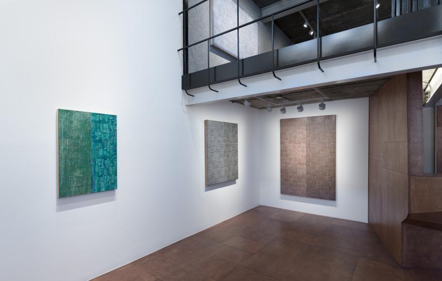 McArthur Binion,Hand:Work:II, Installation view at Lehmann Maupin, Seoul