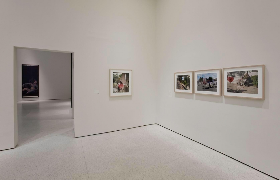 Installation view of Catherine Opie: American Photographer at the Solomon R. Guggenheim Museum, New York