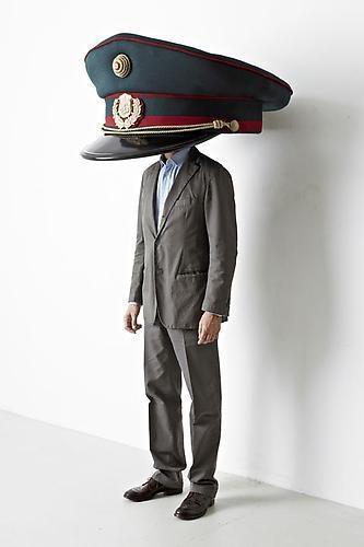 ERWIN WURM Police Cap