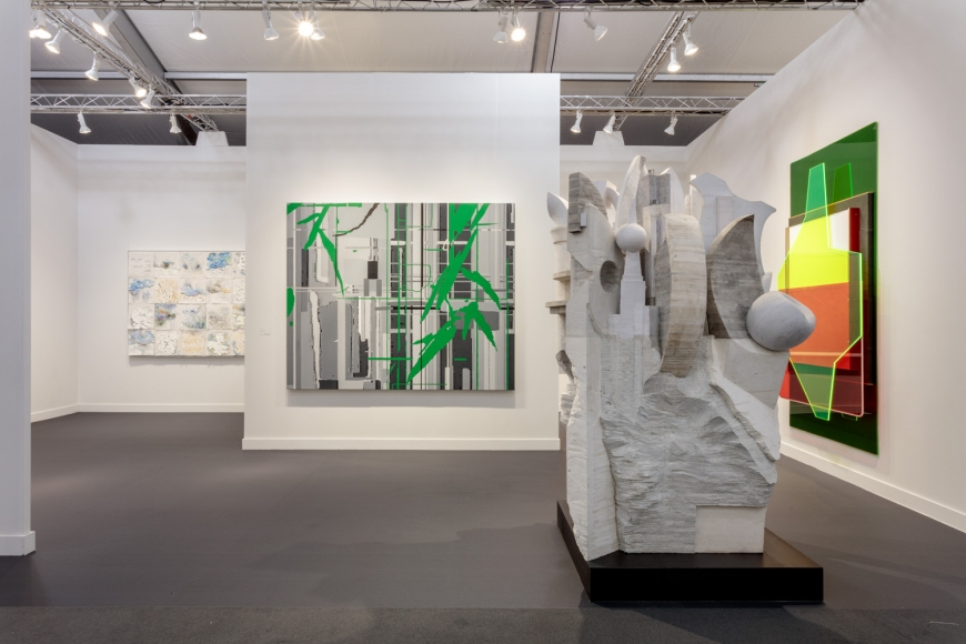 Lehmann Maupin's art fair booth at Frieze Los Angeles 2020 view 2