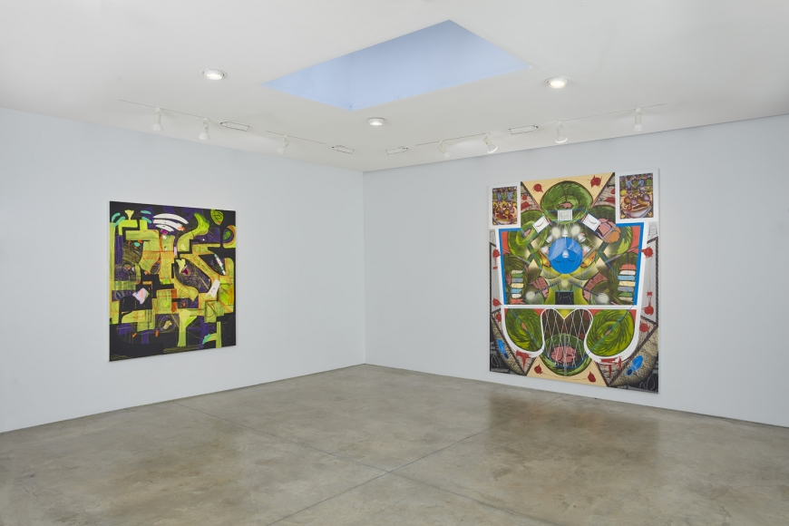 cart, horse, cart, Installation view at Lehmann Maupin, New York 22nd Street