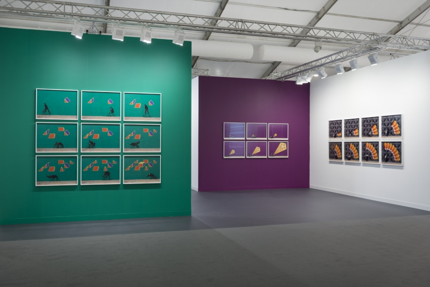 Installation view of Lehmann Maupin's booth at Frieze art fair in London 2019, view 3
