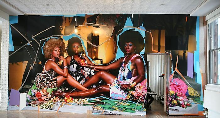 MICKALENE THOMAS, 	Installation View P.S. 1, 2010 Photo by Brett Messenger
