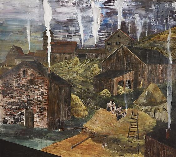 HERNAN BAS The impending flame (or, the great barn fire of '83), 2011