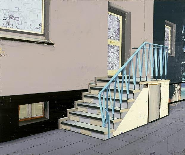 Treppe, 2005 mixed media on canvas