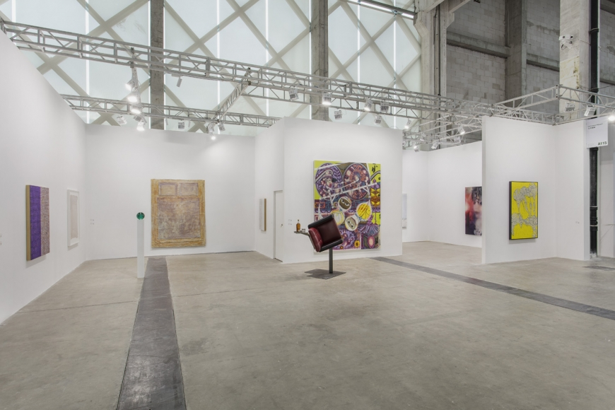 Installation view of Lehmann Maupin's booth at West Bund Art & Design 2019 in Shanghai, view 2