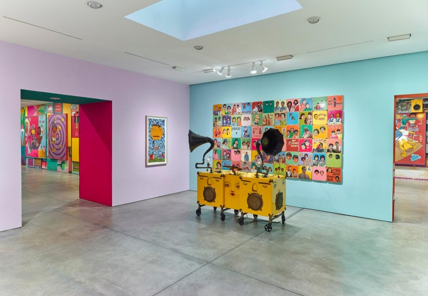 OSGEMEOS, Silence of the Music installation view 9