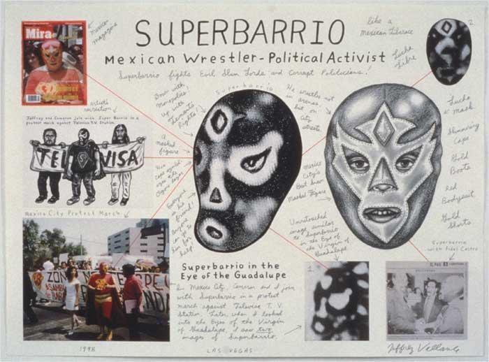 Superbarrio Mexican Wrestler Political Activist, 1998