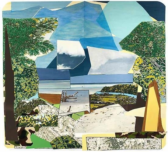MICKALENE THOMAS Landscape with Ocean, 2011
