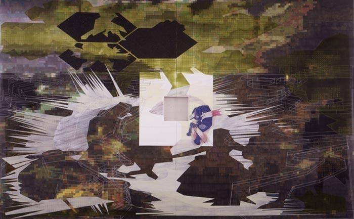 Wormhole 2002 acrylic on canvas