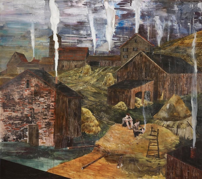 赫爾南·å·´æ–¯ The impending flame (or, the great barn fire of '83), 2011