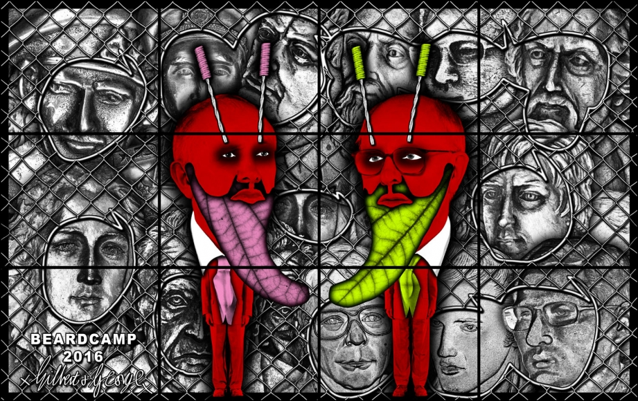 GILBERT & GEORGE, BEARDCAMP, 2016