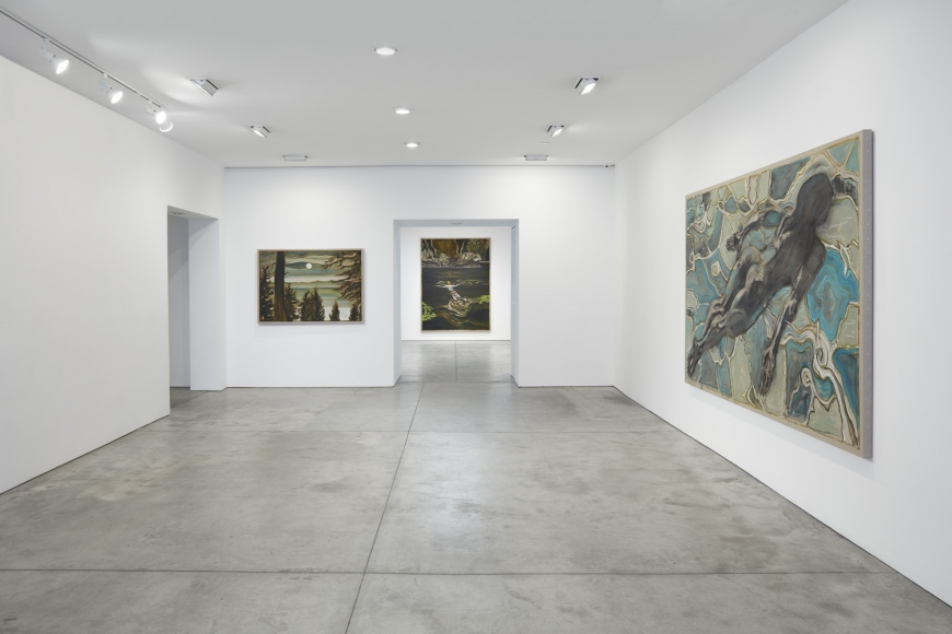 Installation view of Billy Childish exhibition at Lehmann Maupin gallery, New York, 2020, view 1