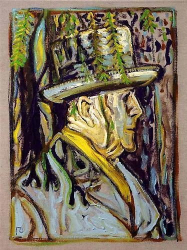 BILLY CHILDISH Sibelius Under a Tree (Study), 2011