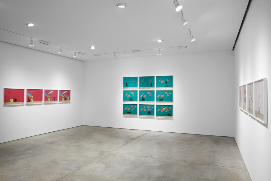 Robin Rhode, The Geometry of Colour installation view 4