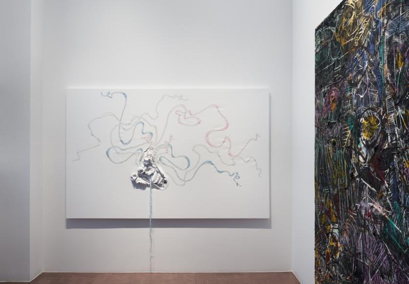 Kader Attia, Nicholas Hlobo, Angel Otero, Installation view at Lehmann Maupin, Seoul
