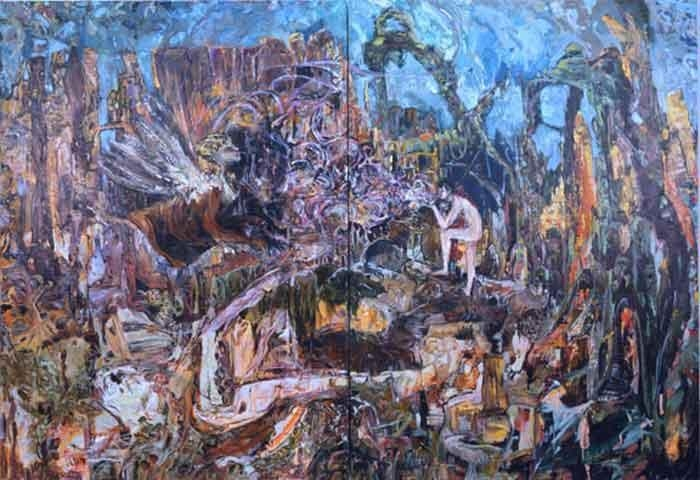 HERNAN BAS Oedipus and the Sphinx (proper answer to the riddle), 2008