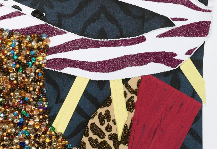 MICKALENE THOMAS, 	Untitled #17 (detail), 2016