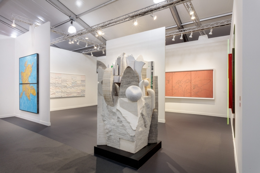 Lehmann Maupin's art fair booth at Frieze Los Angeles 2020 view 1