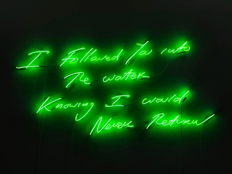 TRACEY EMIN, I Followed You into the Water Knowing I Would Never Return, 2011