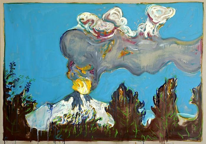 BILLY CHILDISH Erupting Volcano, 2011